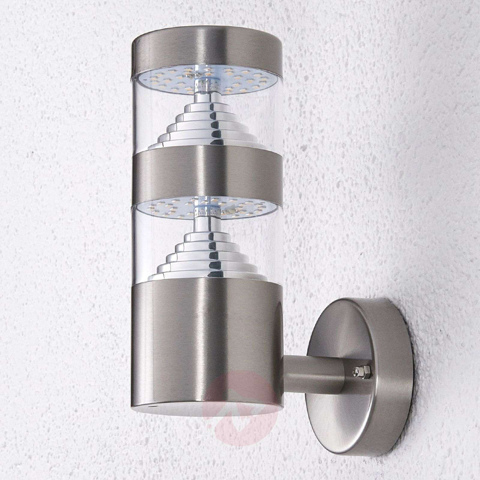Stainless steel led outdoor wall light lanea lights stainless steel led outdoor wall light lanea 9988005 01 aloadofball Image collections