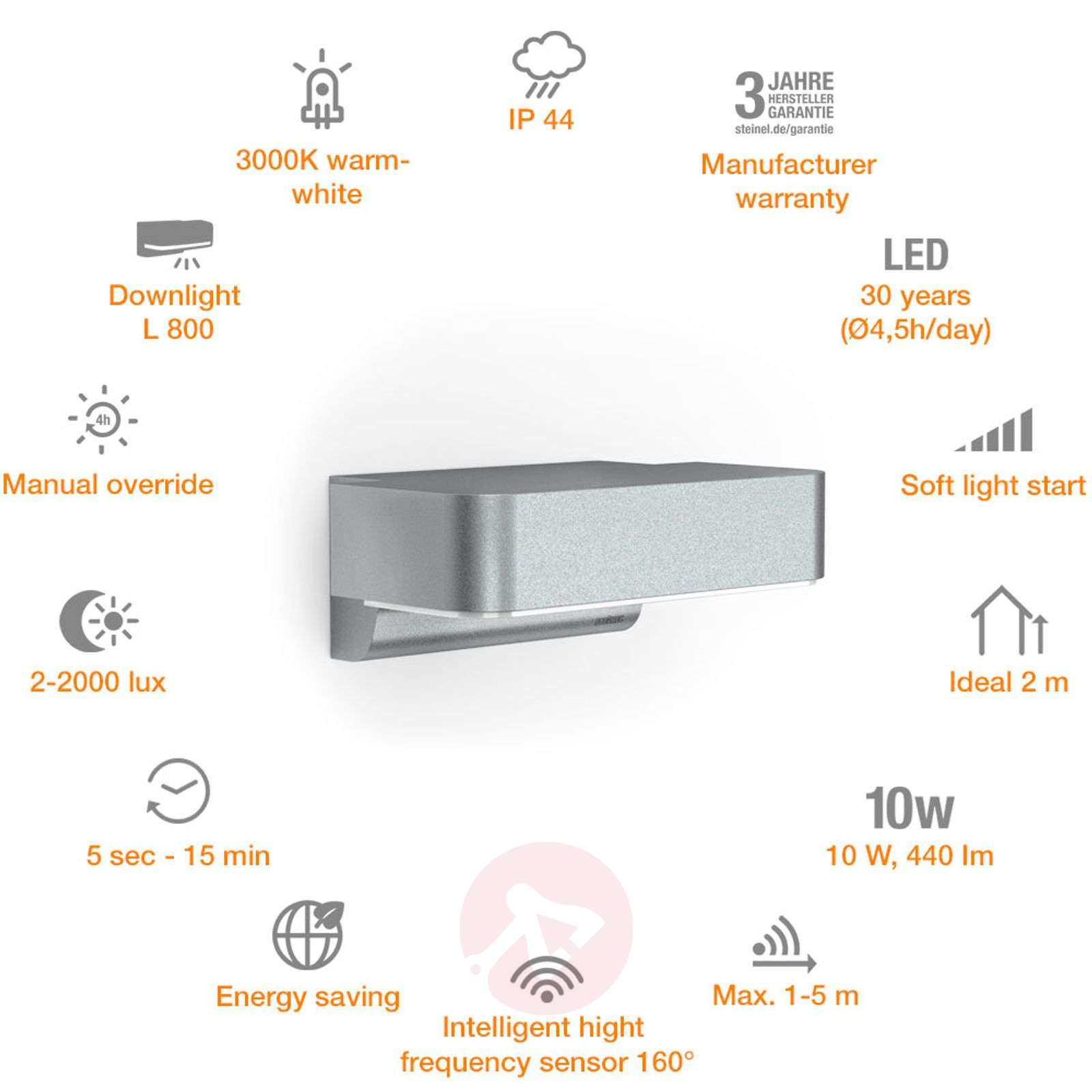 steinel-l-800-outdoor-wall-light-intelligent-8505618-37 Stilvolle Steinel L 820 Led Ihf Dekorationen