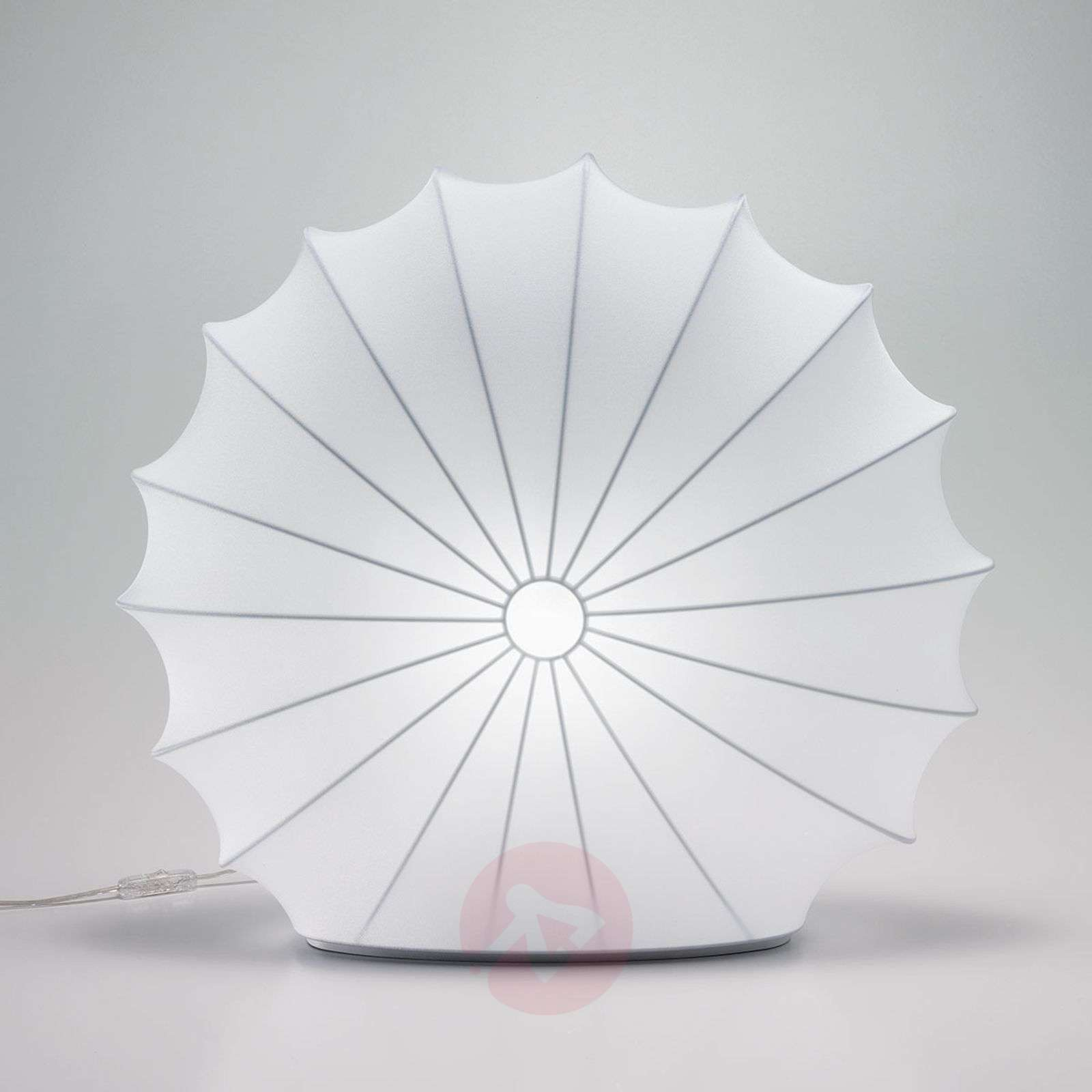 Textile table lamp Muse in white, 60 cm-1088053-01