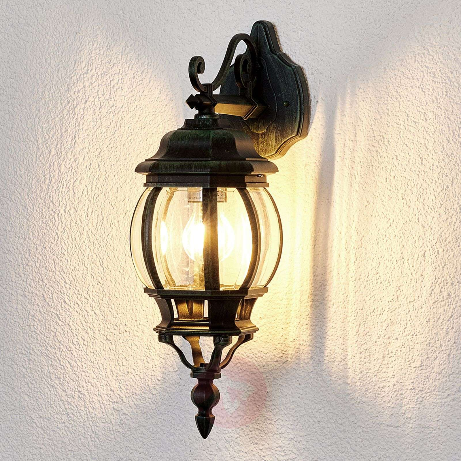 Vintage External Wall Lights : Theodor Outside Wall Light Antique Look Lights.co.uk