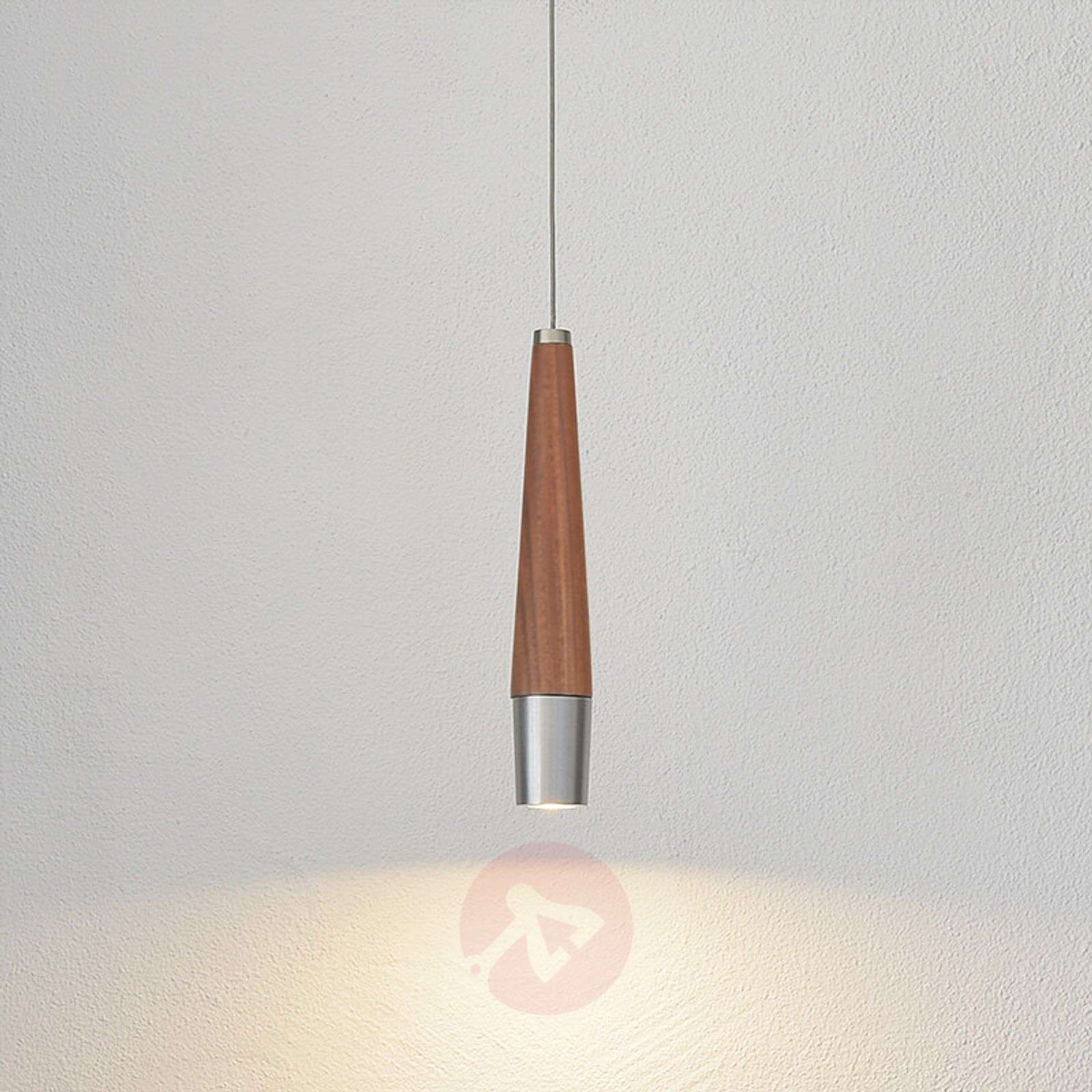 Thin led pendant lamp conico with walnut wood lights thin led pendant lamp conico with walnut wood 4543007 01 aloadofball Choice Image