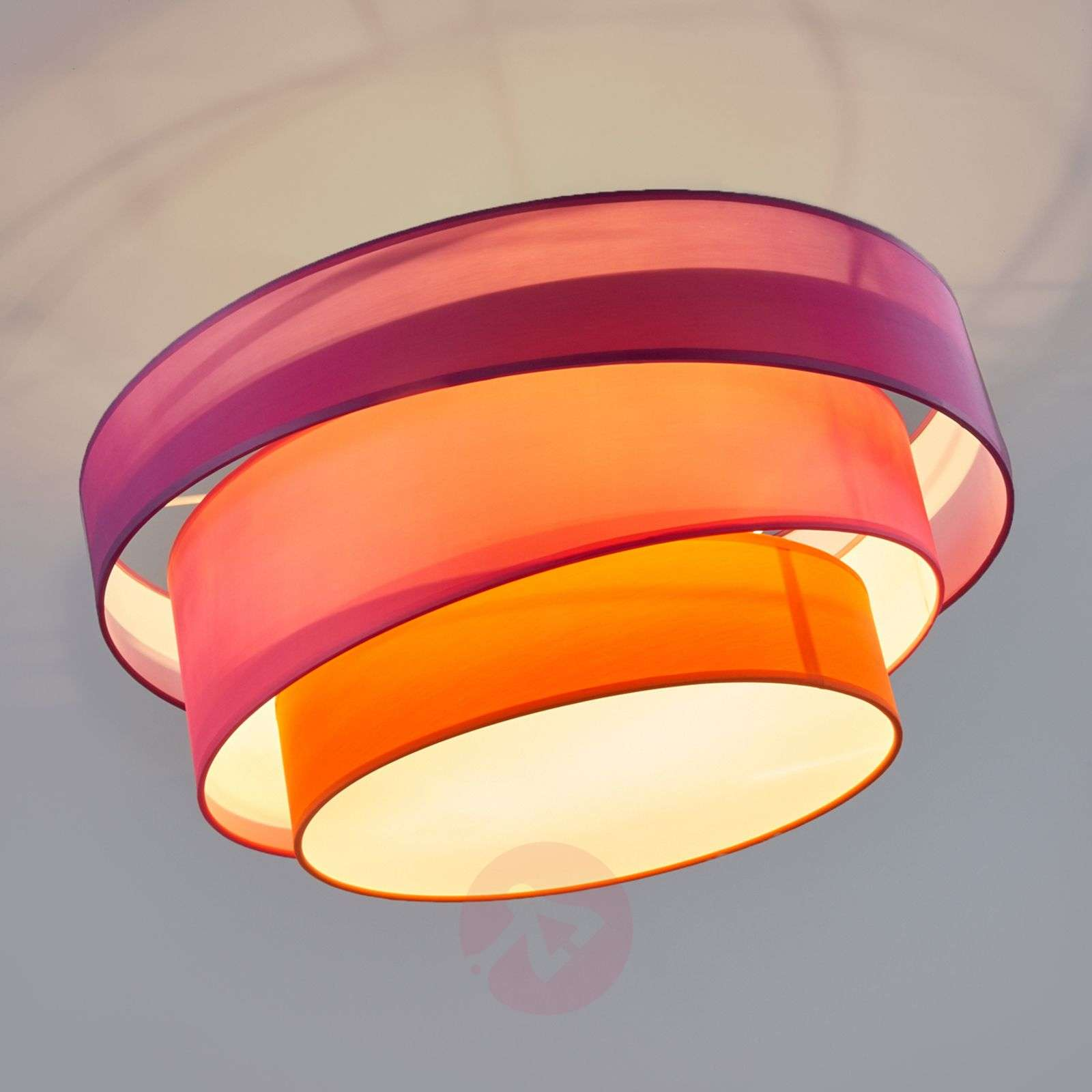 Three coloured ceiling light melia violet pink lights three coloured ceiling light melia violet and pink 9639035 01 aloadofball Image collections