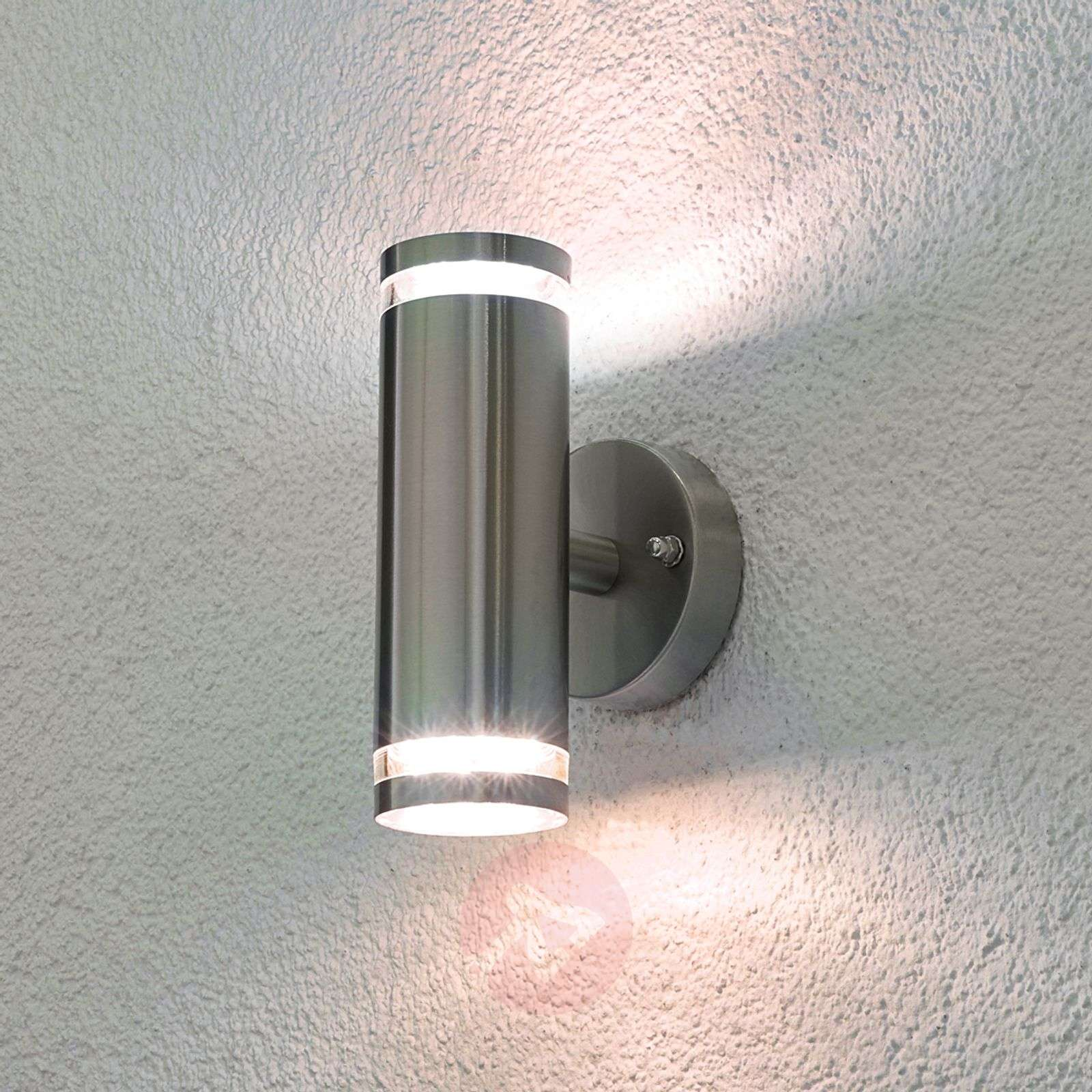 Tiberus stainless steel led outdoor wall light 9960049 01