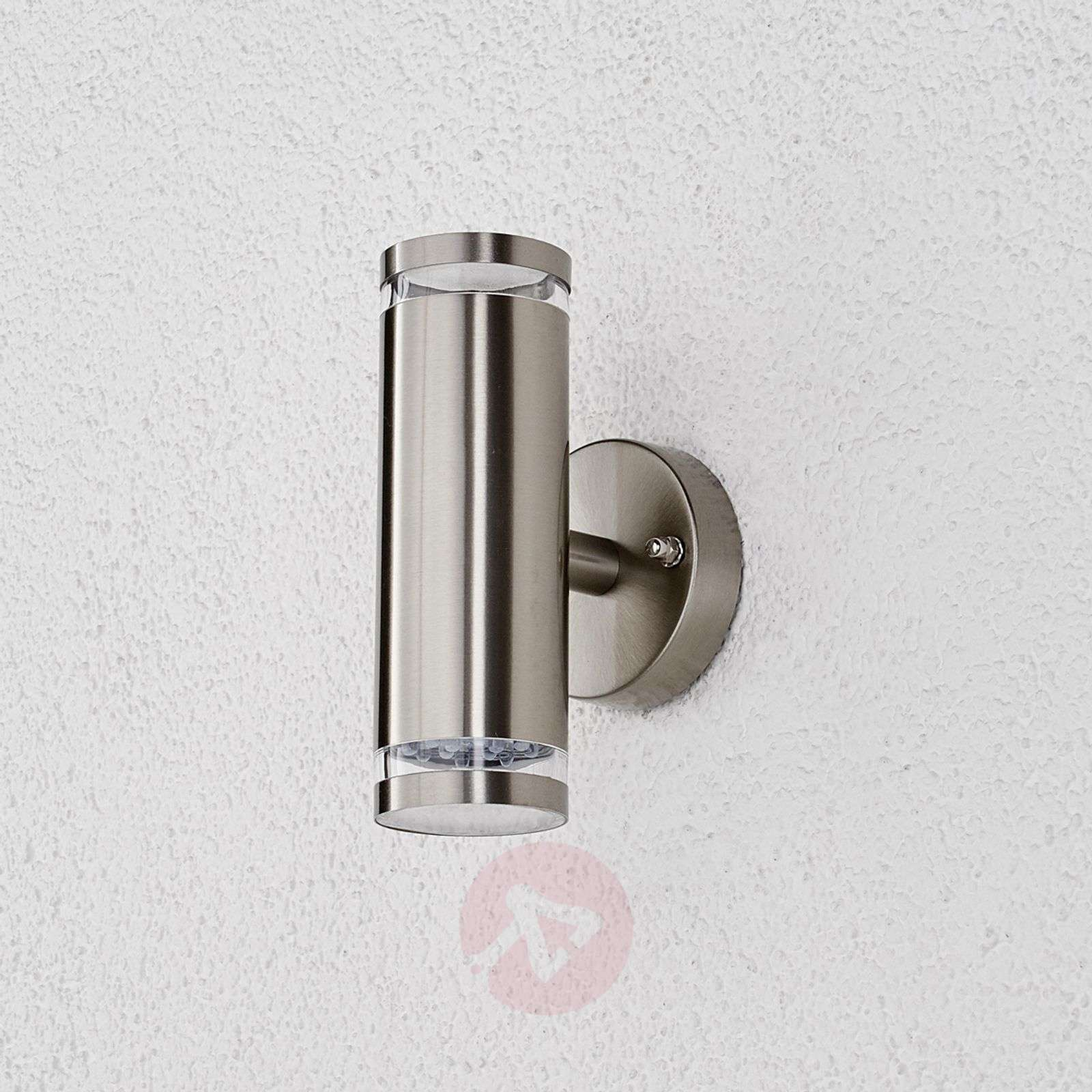 Outdoor Wall Lamps Led : Tiberus stainless steel LED outdoor wall light Lights.co.uk