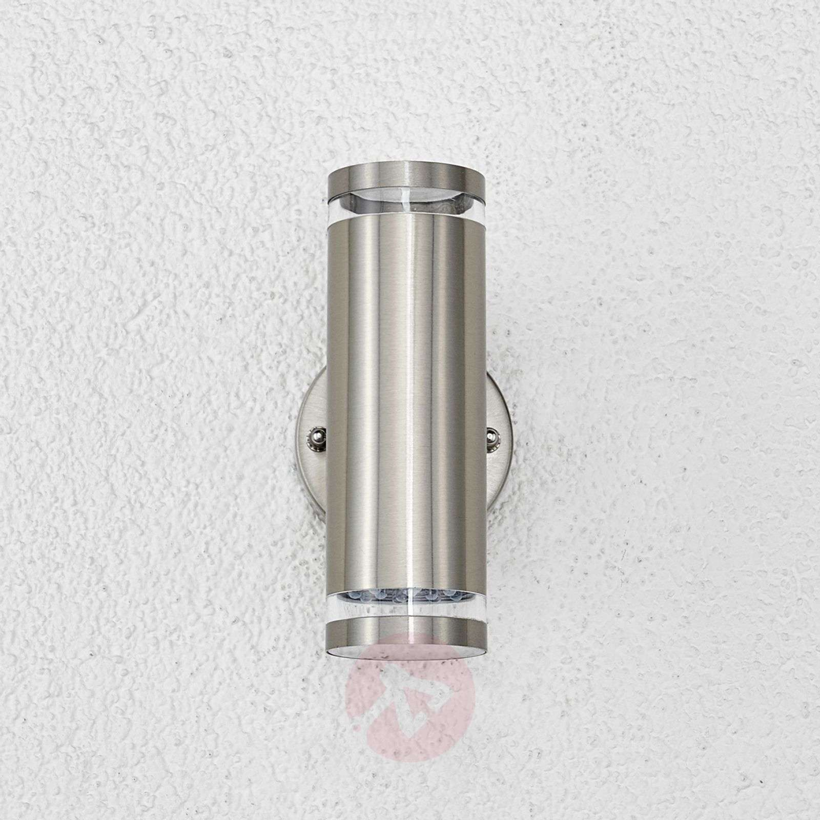 Tiberus stainless steel LED outdoor wall light