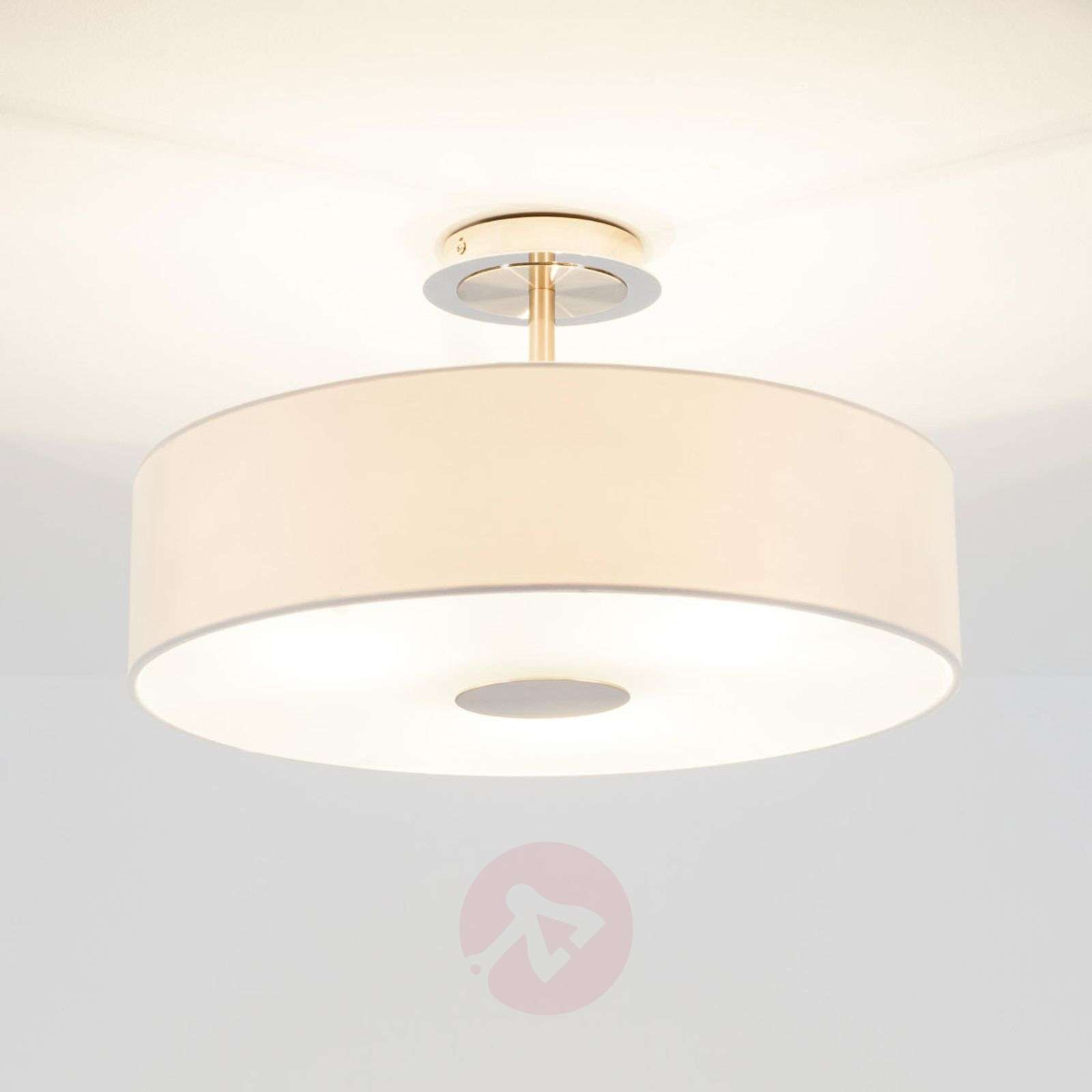 Textile ceiling lights buy online top designs lights timeless ceiling light josia made of white fabric aloadofball Choice Image