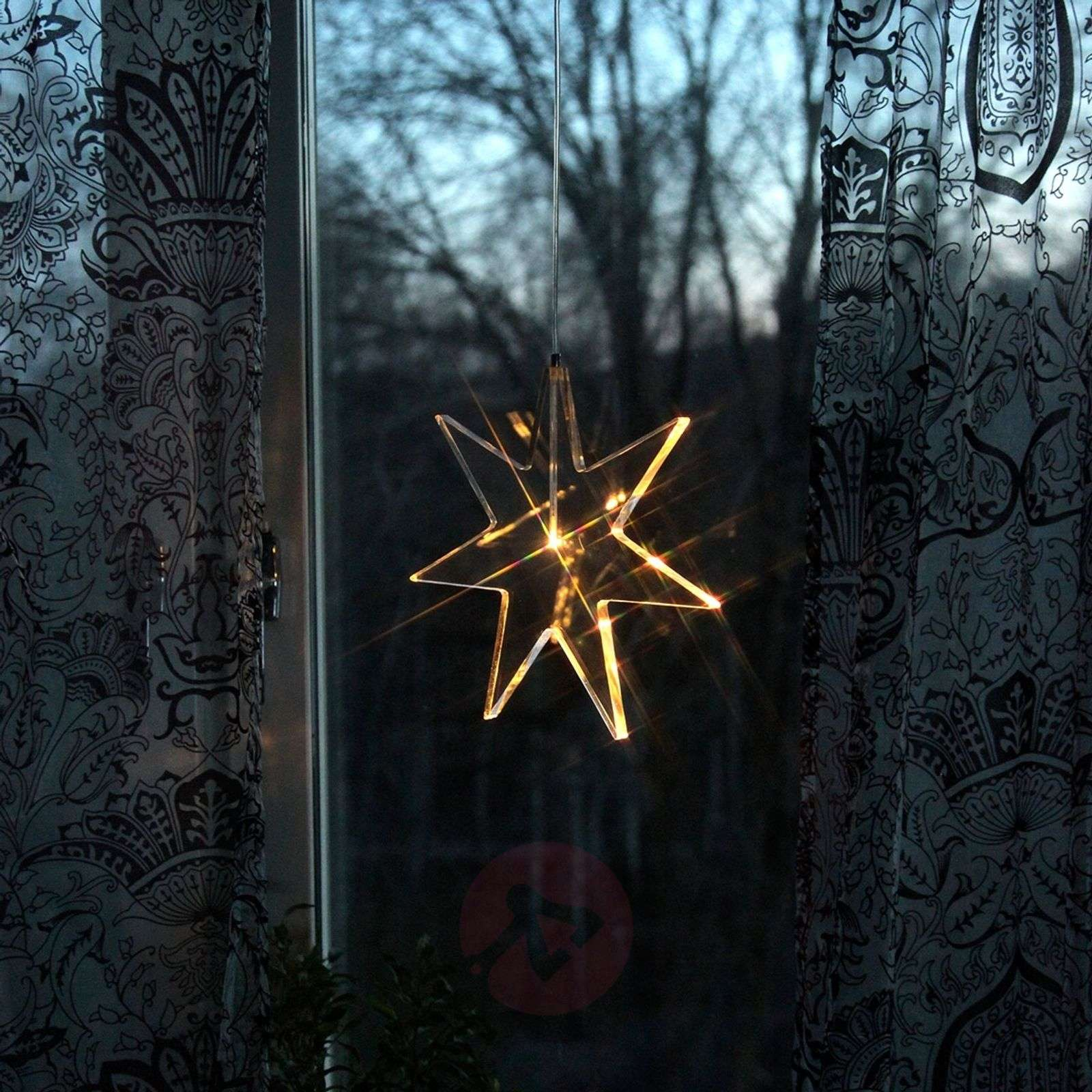 Transparent LED star decorative light Karla-1522505-01