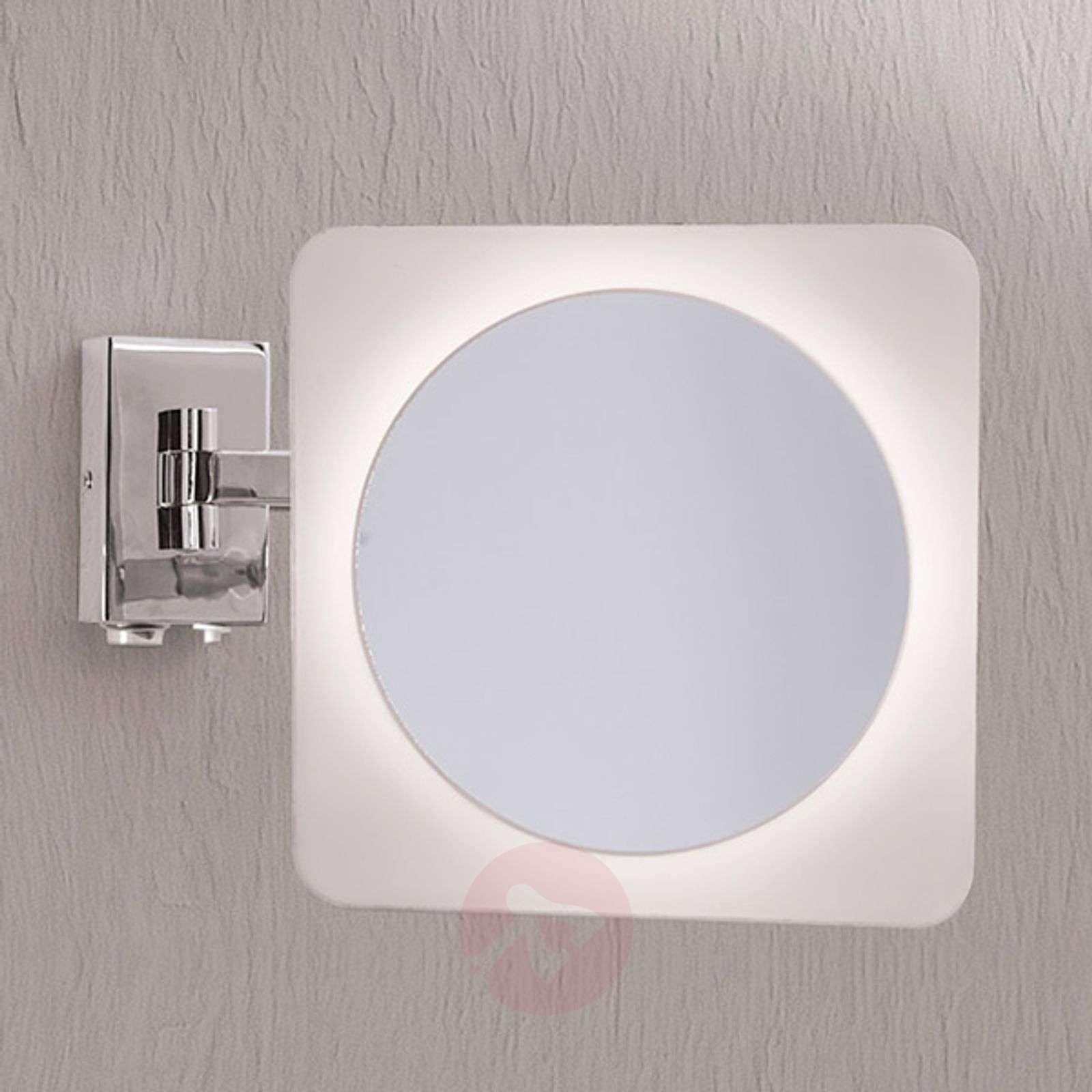 Tulsi Magnifying Wall Mirror with LED Light | Lights.co.uk