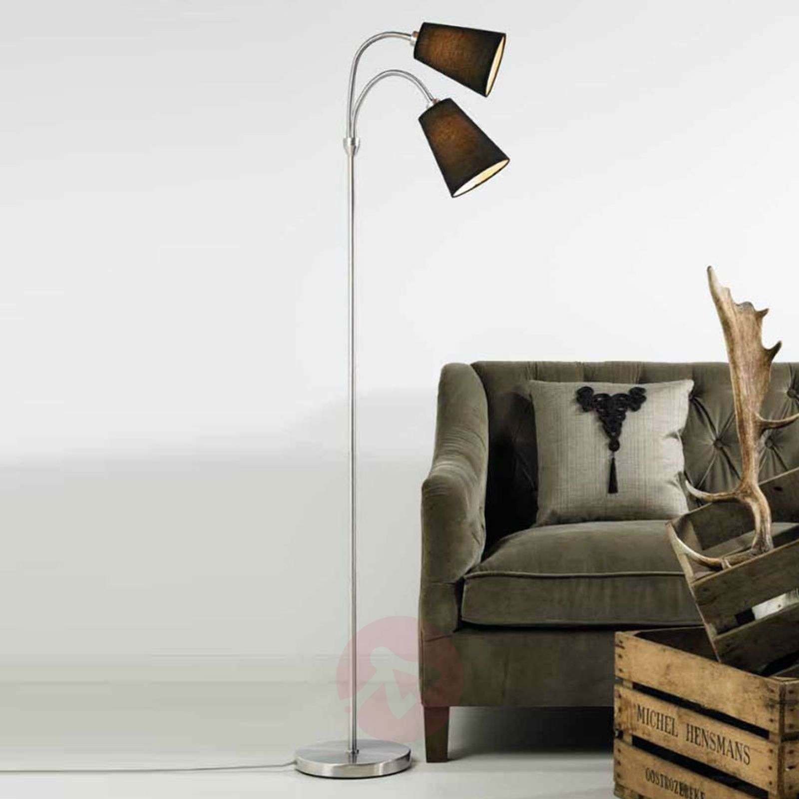 Two bulb floor lamp lelio with flexible arms lights two bulb floor lamp lelio with flexible arms 7005701 01 aloadofball Choice Image