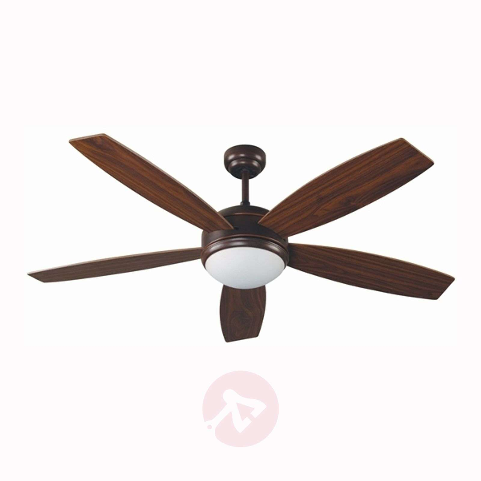 Large Ceiling Fan Sizes: VANU Large Ceiling Fan With Remote Control, Brown