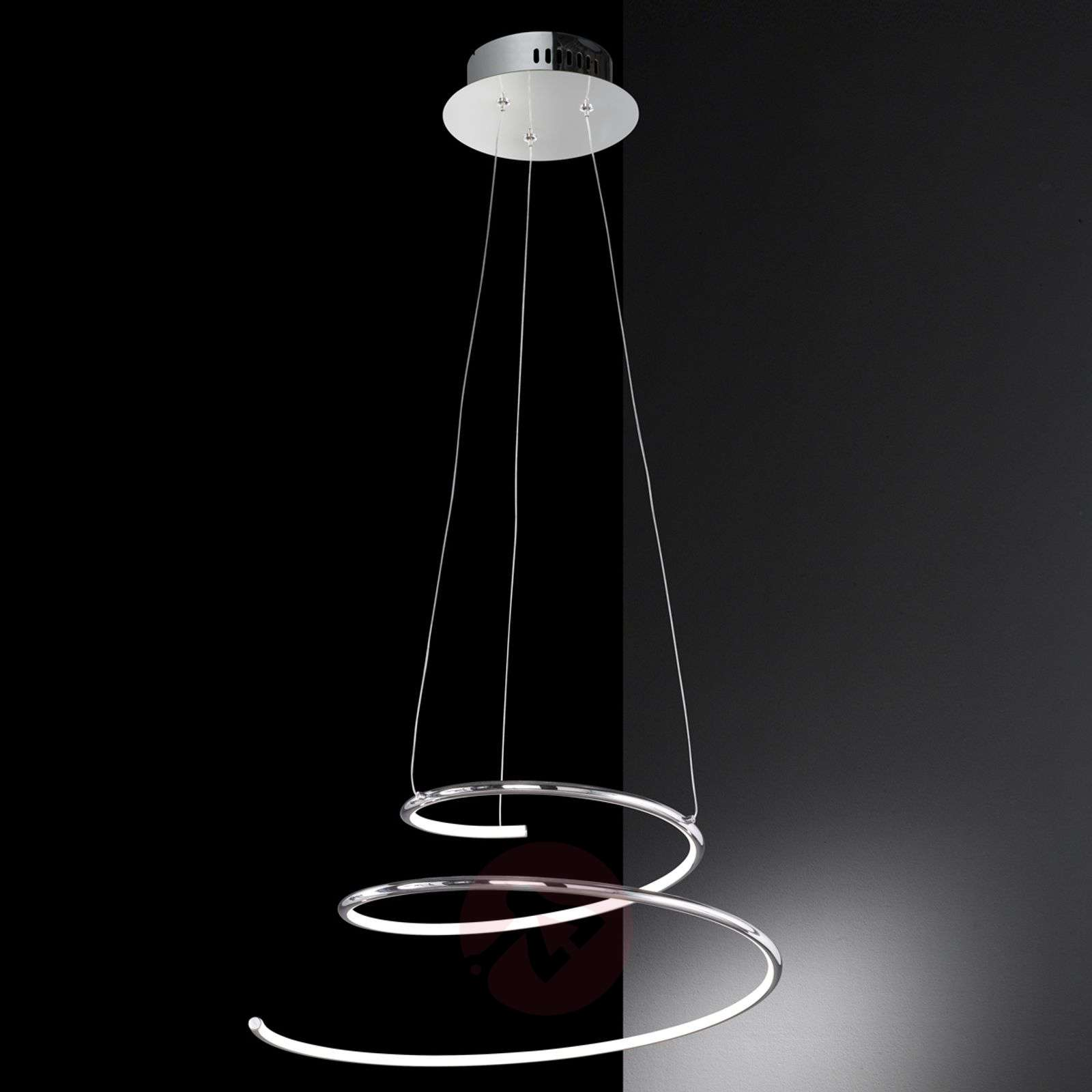 visio spiral led hanging light. Black Bedroom Furniture Sets. Home Design Ideas