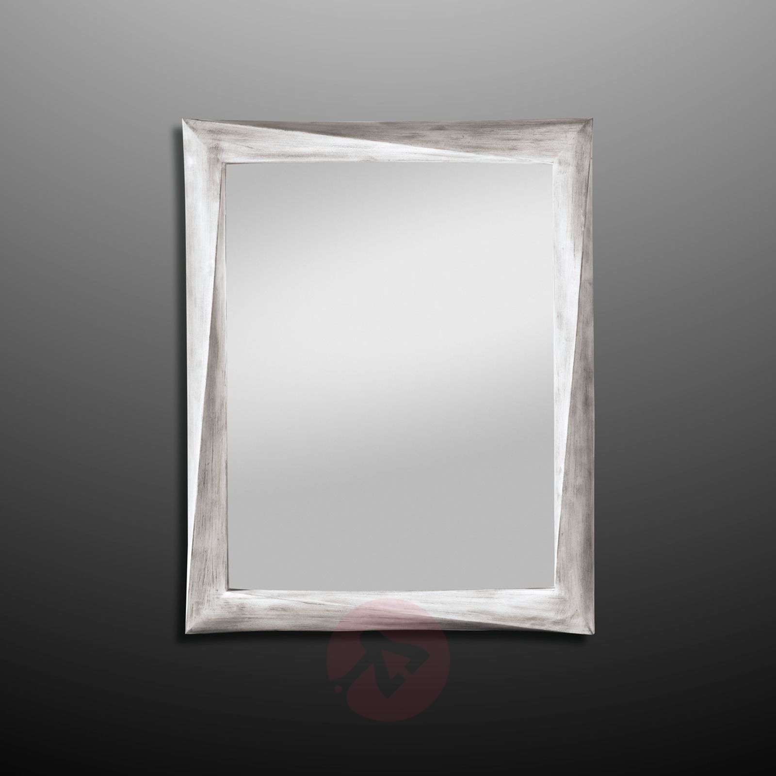 Wall mirror Laura with antique white frame | Lights.co.uk