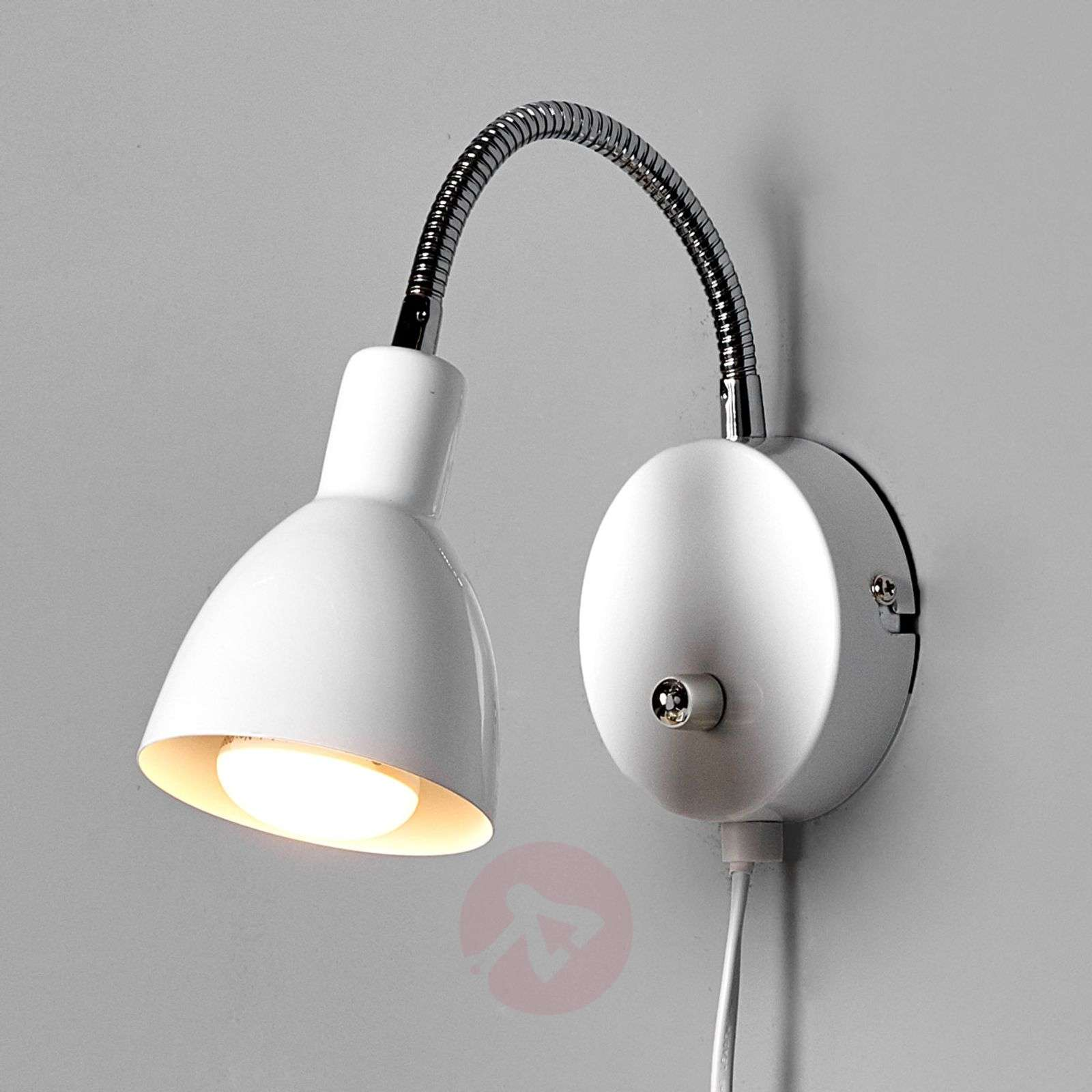 White amrei metal wall light with dimmer lights white amrei metal wall light with dimmer 9620261 01 aloadofball Image collections