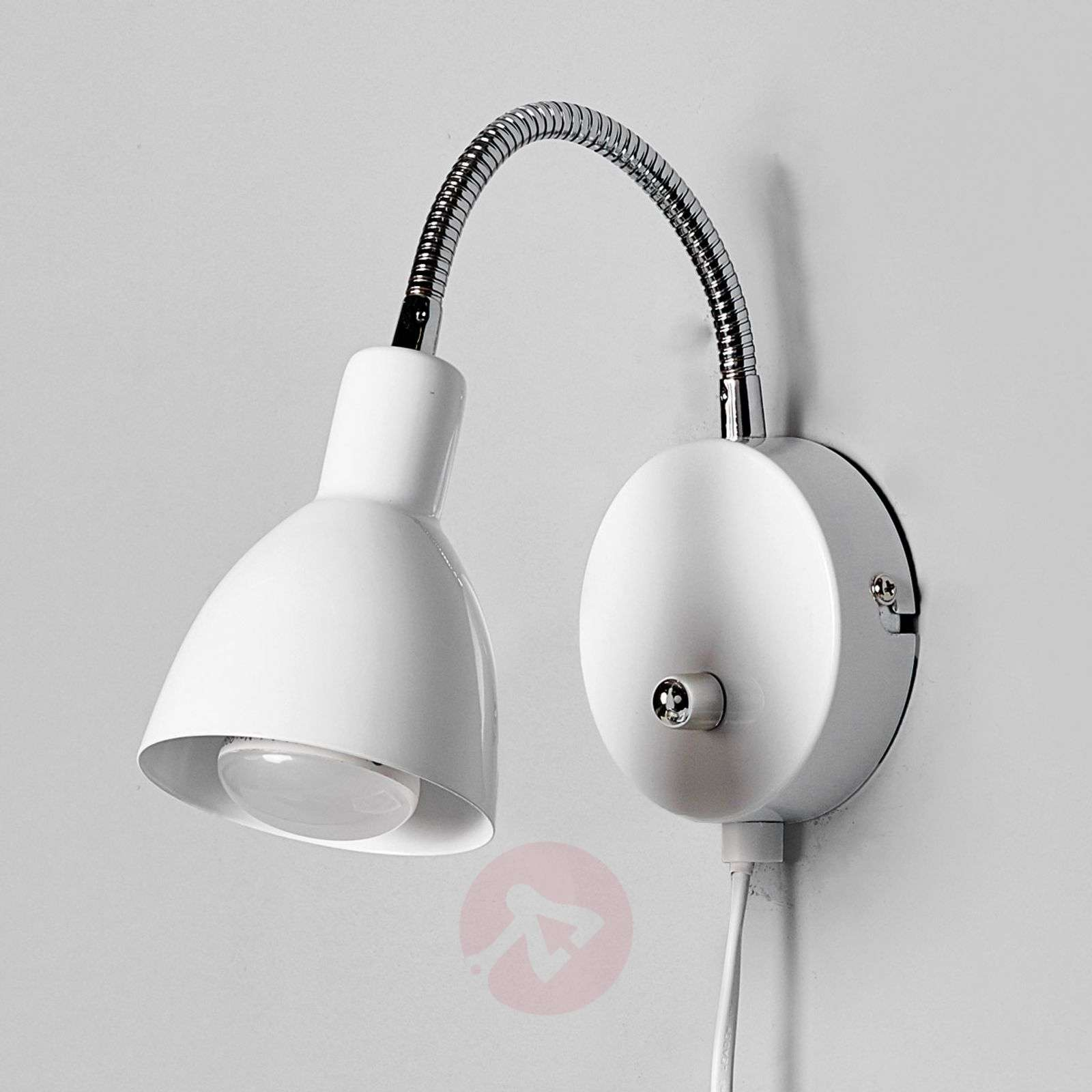 White amrei metal wall light with dimmer lights white amrei metal wall light with dimmer 9620261 01 aloadofball Gallery