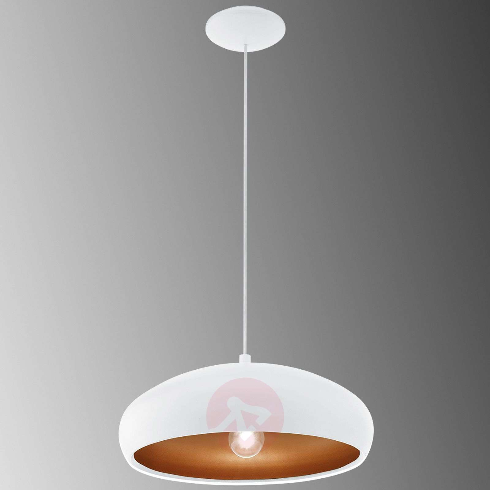 White pendant light Mogano Lightscouk