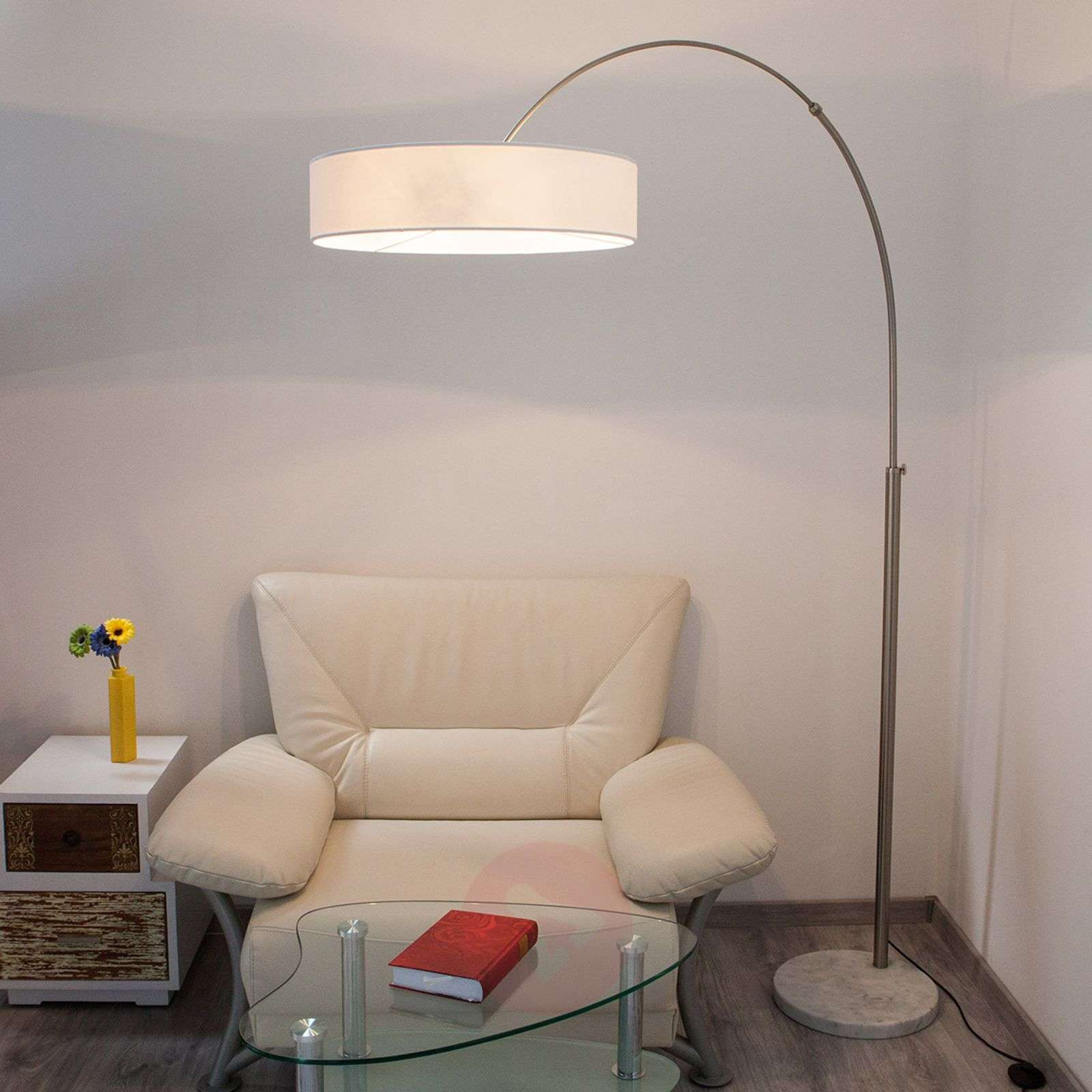 White shing fabric floor lamp lights white shing fabric floor lamp 9620142 01 aloadofball Choice Image