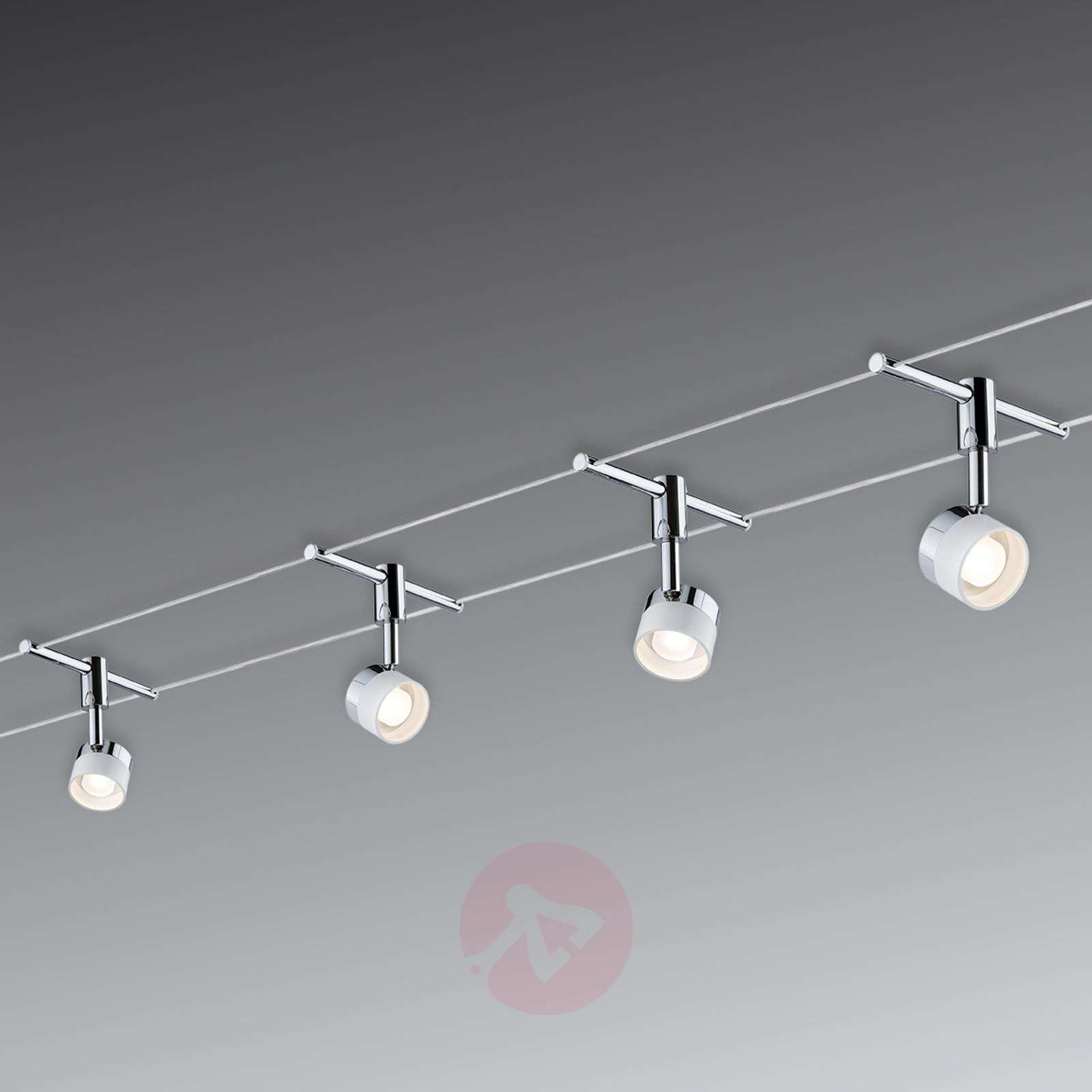 Cable Lighting Wiring Track Fixture With 4 Round Lights Led System Stage