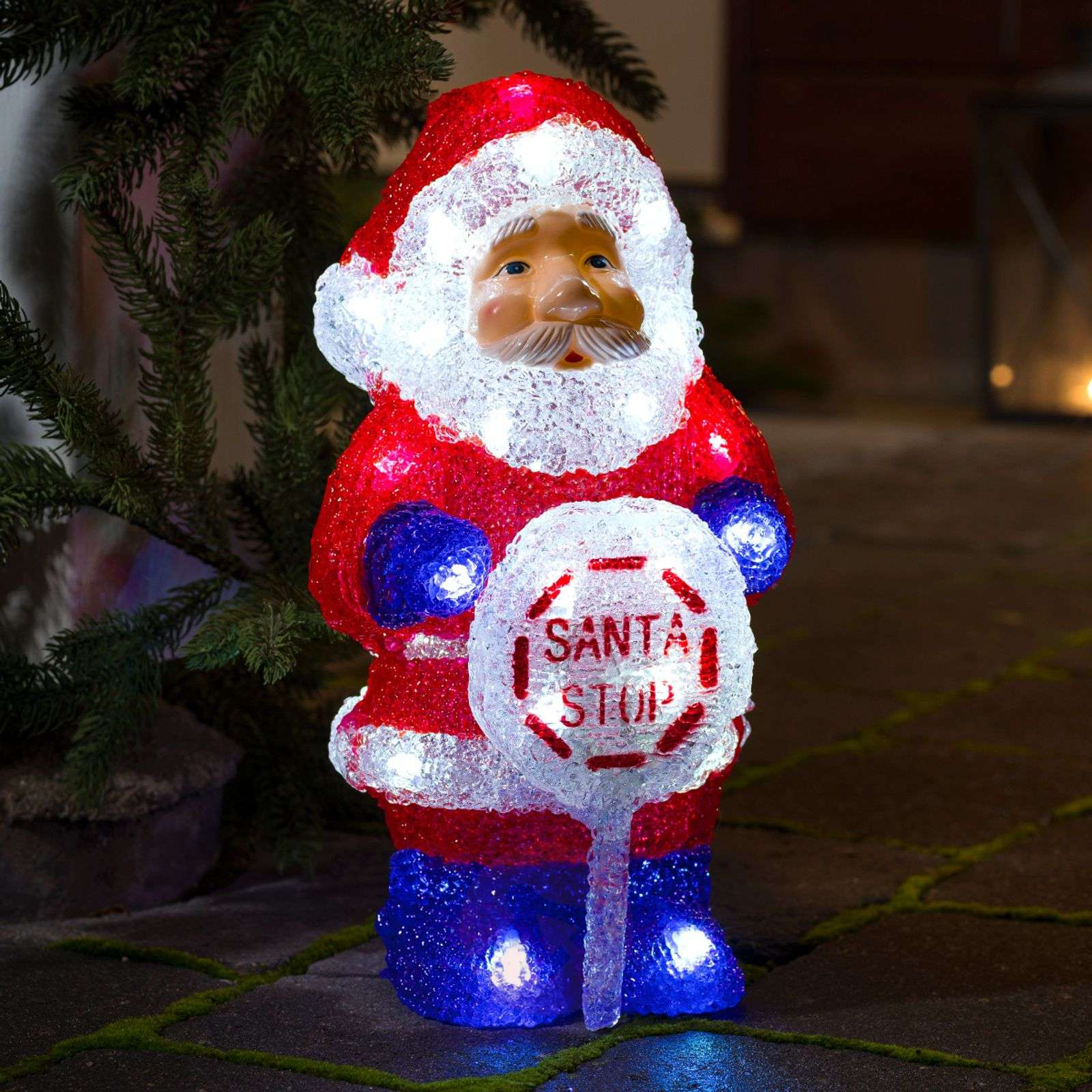 With an integrated timer LED outdoor Santa Claus-5524591-01