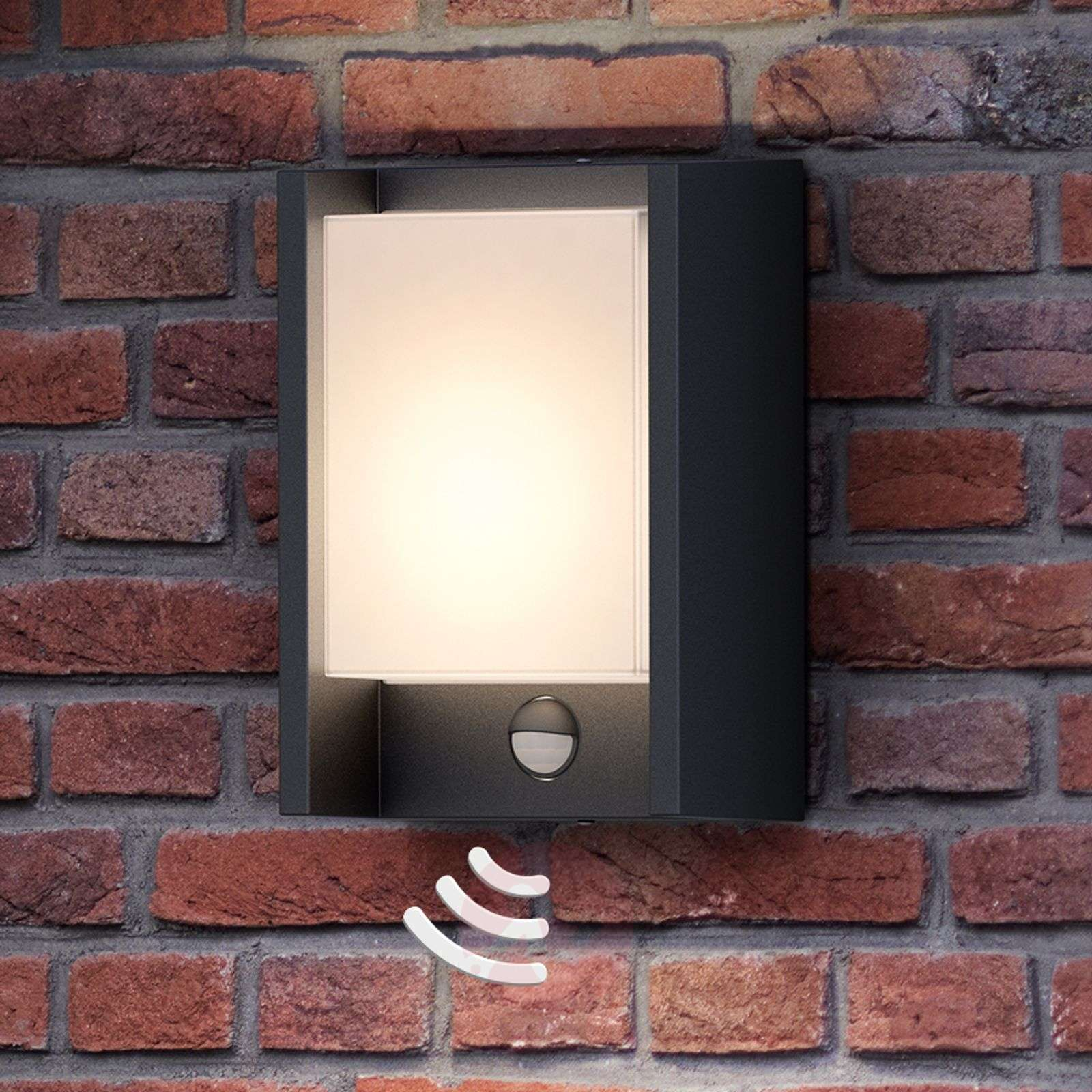 With Sensor - LED Outdoor Wall Light Arbour