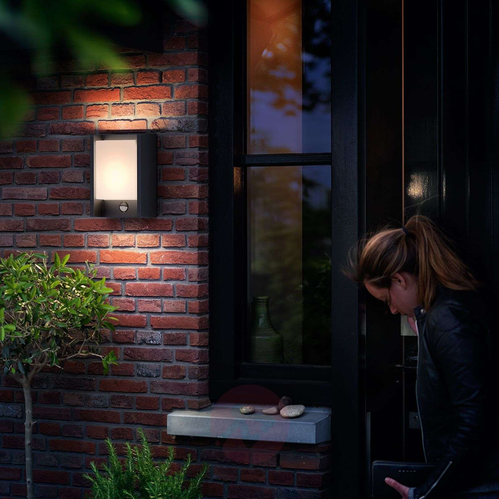 With Sensor Led Outdoor Wall Light Arbour Lights Co Uk