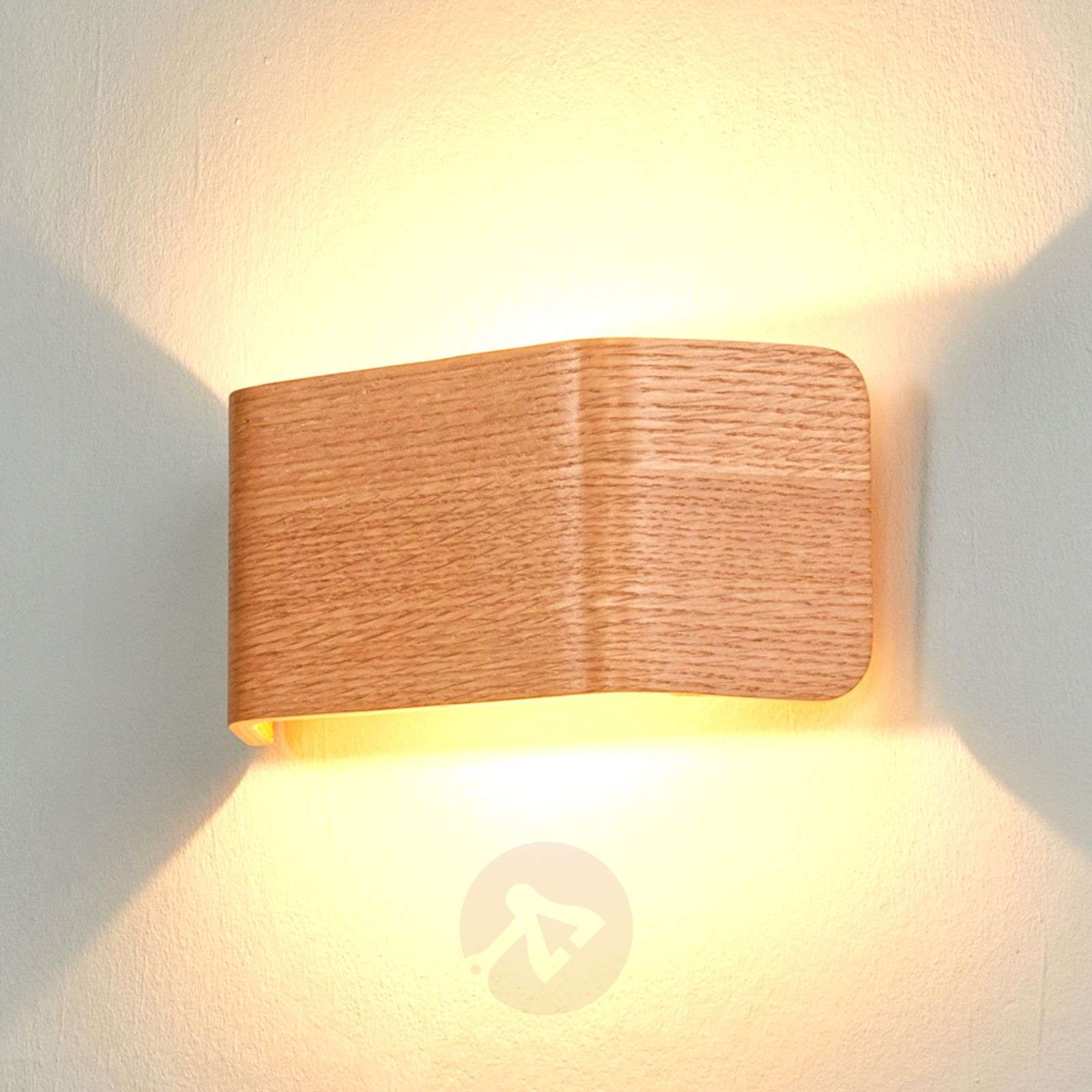 Wooden wall lights buy online top designs lights wood coloured led wall light skate aloadofball Gallery