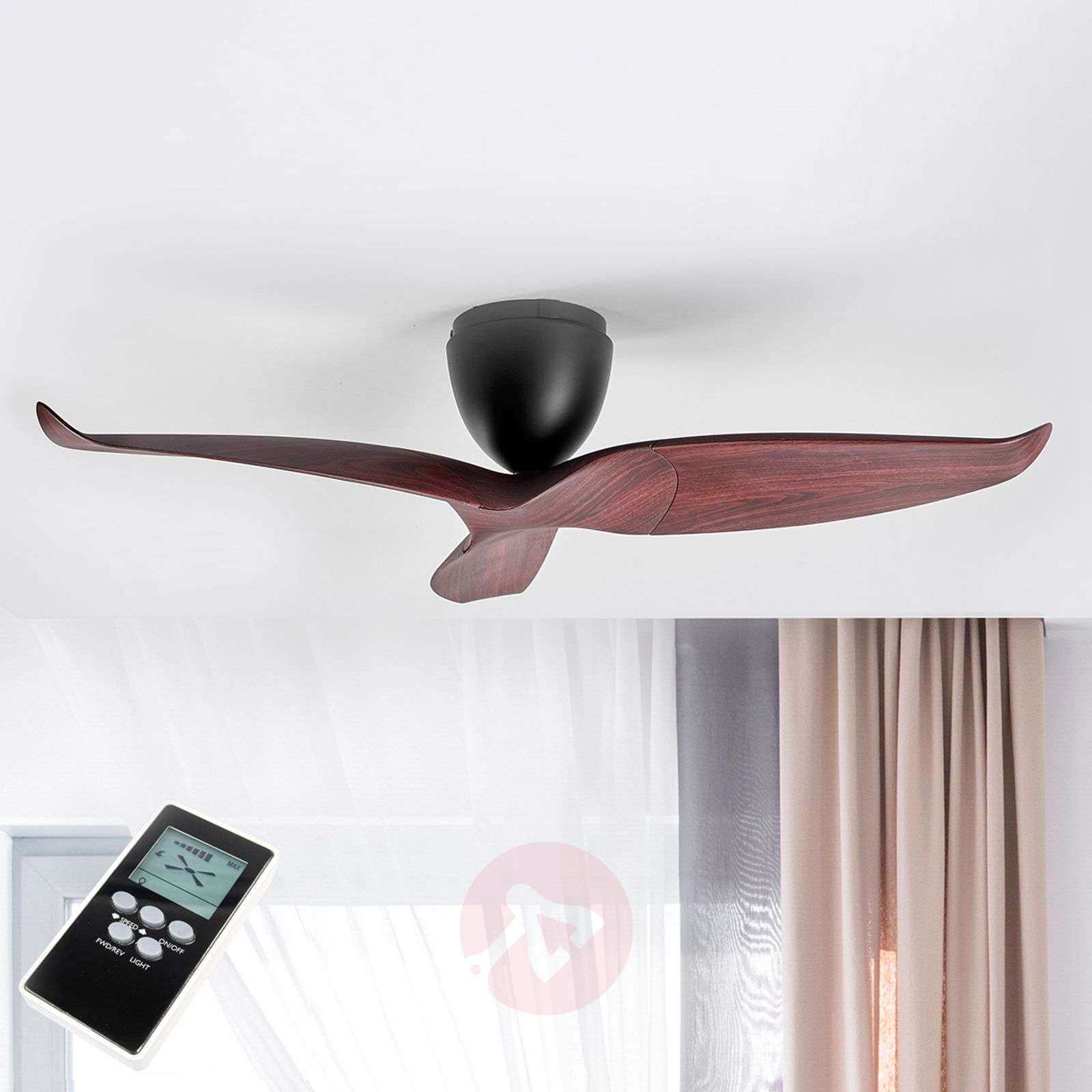 Wood finish ceiling fan aeratron 126 cm lights wood finish ceiling fan aeratron 126 cm 1068013 09 mozeypictures Gallery