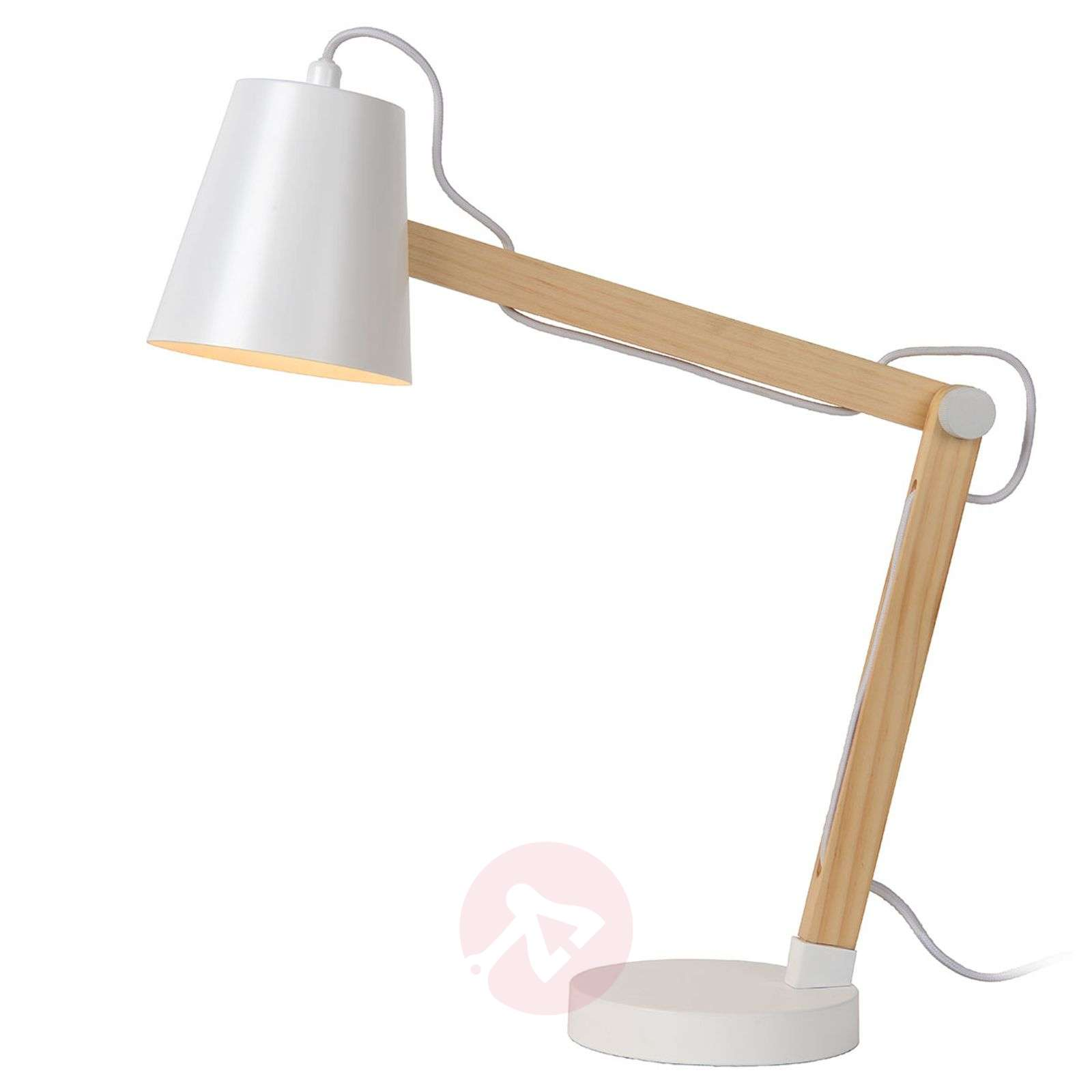 ca9d7a7f5586 Wooden desk lamp Tony - adjustable | Lights.co.uk