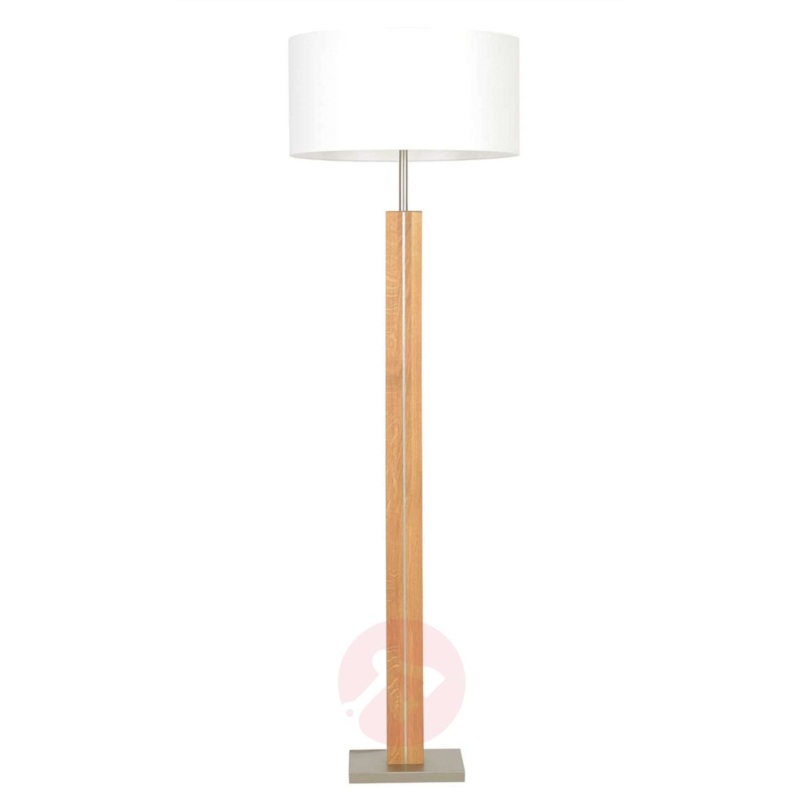 Wooden floor lamp dana with white fabric shade lights wooden floor lamp dana with white fabric shade 4543010 01 aloadofball Image collections