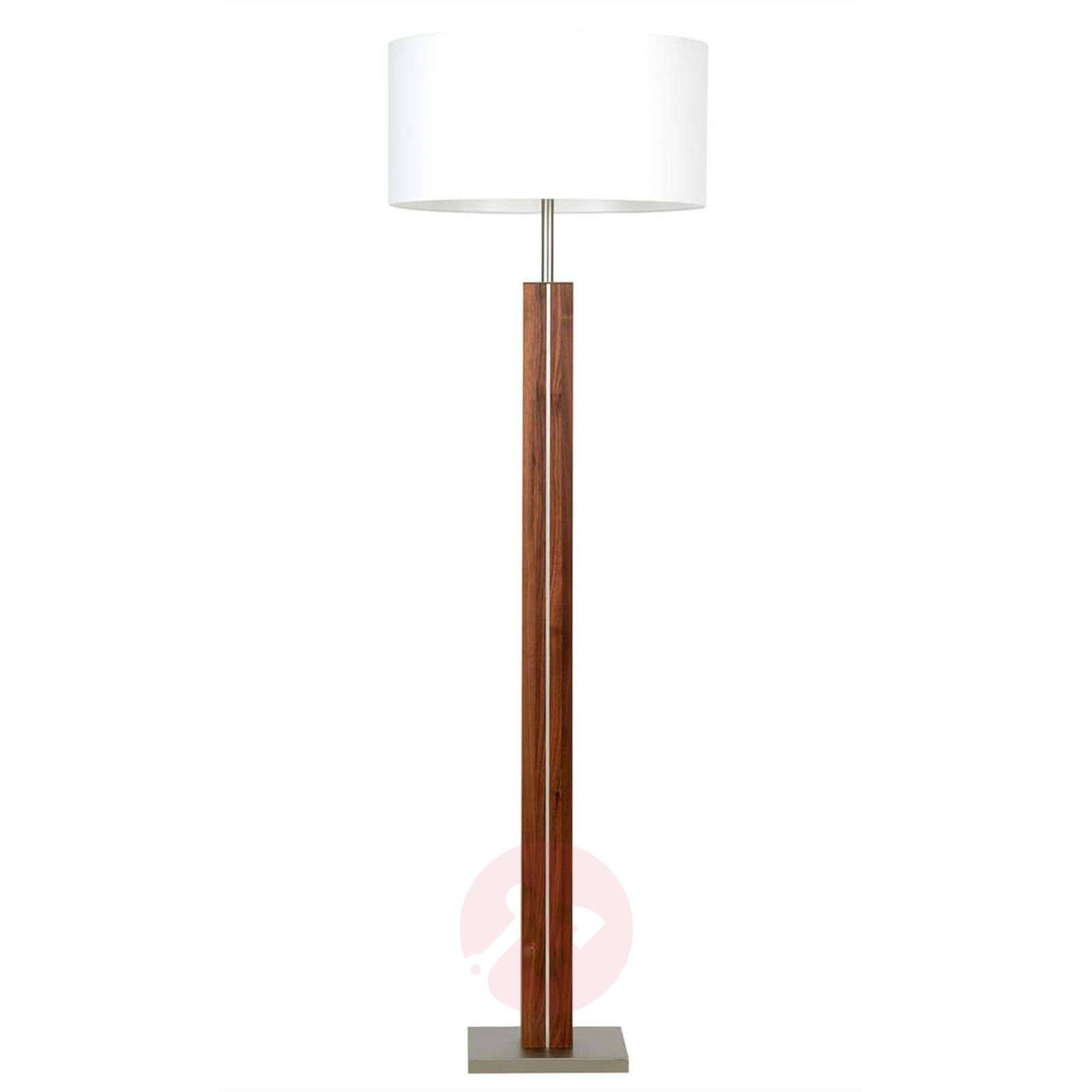 Wooden floor lamp dana with white fabric shade lights wooden floor lamp dana with white fabric shade 4543012 01 aloadofball Image collections