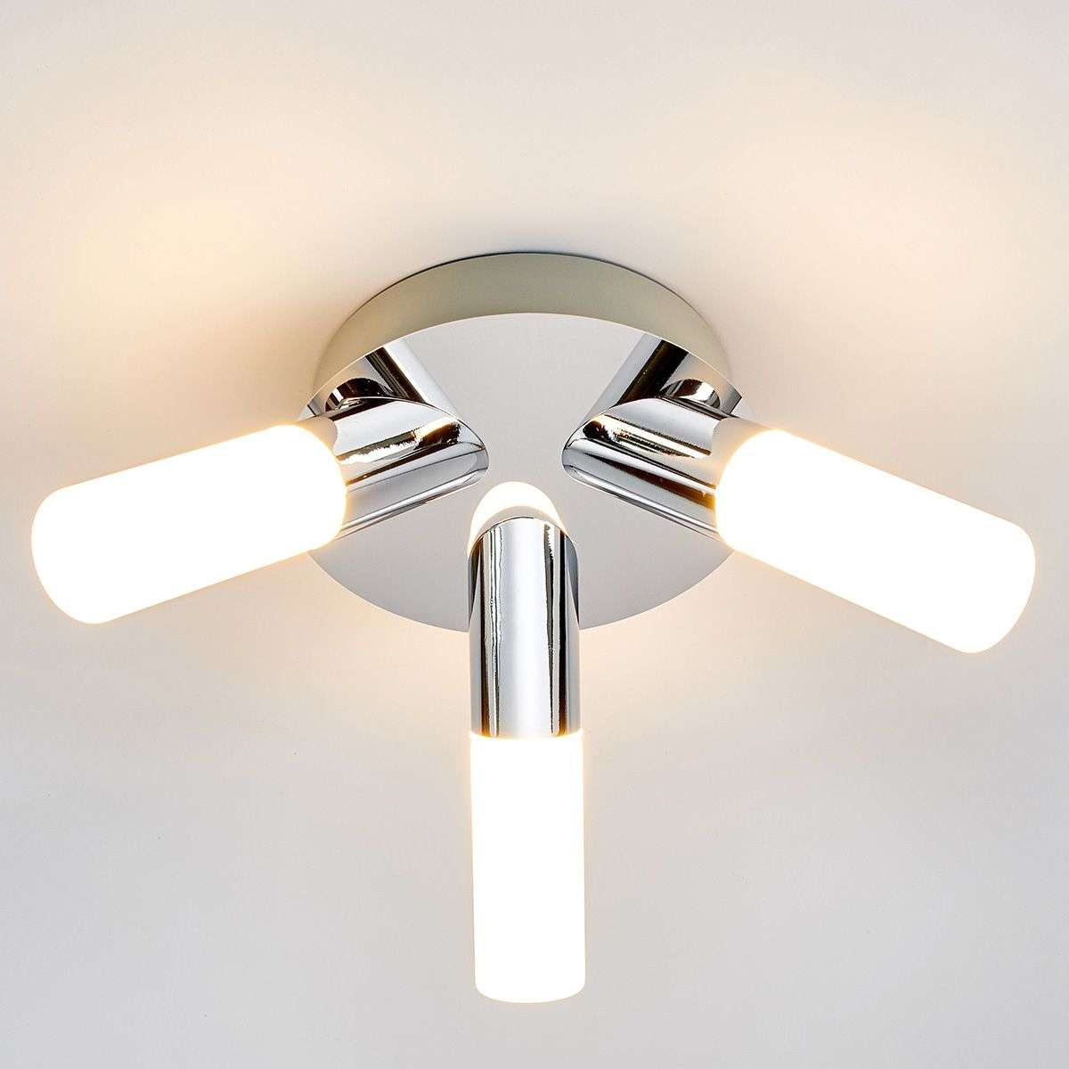 3-light Benaja LED bathroom ceiling lamp | Lights.co.uk