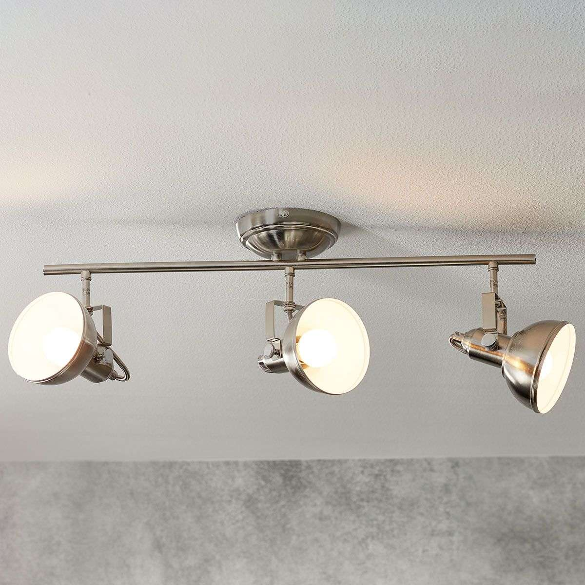 3 Bulb Ceiling Light: 3-Light Gina Ceiling Light, Industrial Look