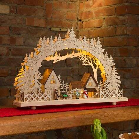 10-light LED candle arch Village