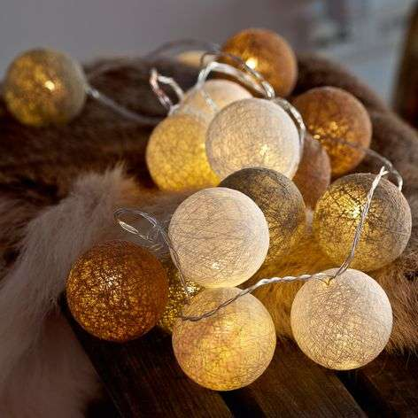 20-bulb LED string lights Bolette, nordic nature
