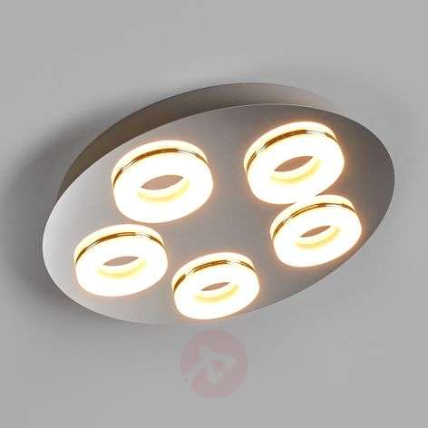 5-light Nilson LED ceiling light