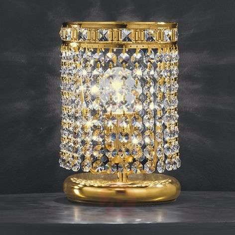 AMSTERDAM table lamp with 24-carat gold