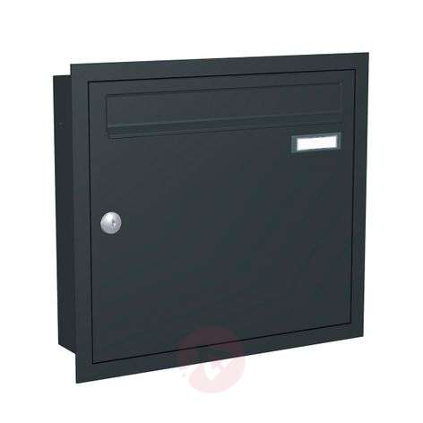 Anthracite grey letterbox Express Box Up 110