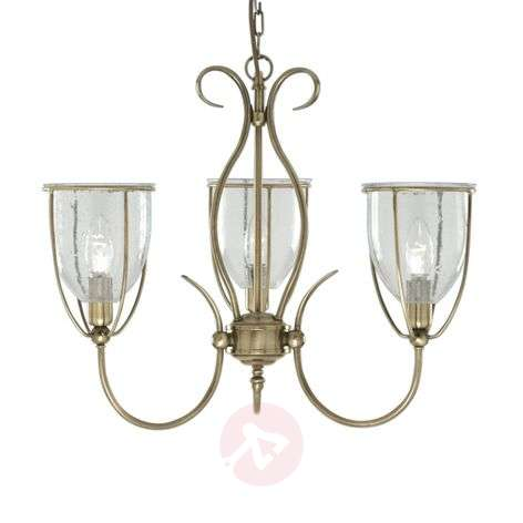 Antique-looking Silhouette hanging light, 3-light