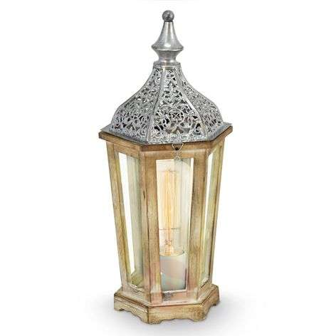 Buy table lamps classicantique from lights antique looking wooden margrit table lamp aloadofball Gallery
