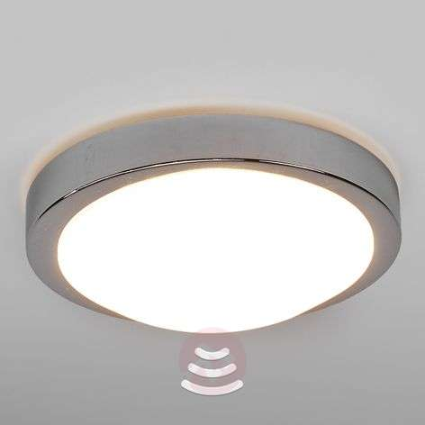 Aras bathroom LED ceiling lamp with sensor, 10 W