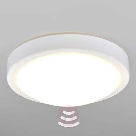 Aras bathroom LED ceiling light with sensor, white