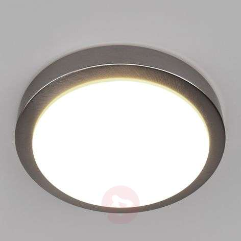 Aras LED bathroom ceiling lamp, matt nickel, 10W