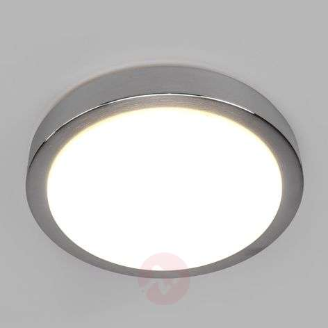 Aras LED ceiling light for bathrooms, aluminium