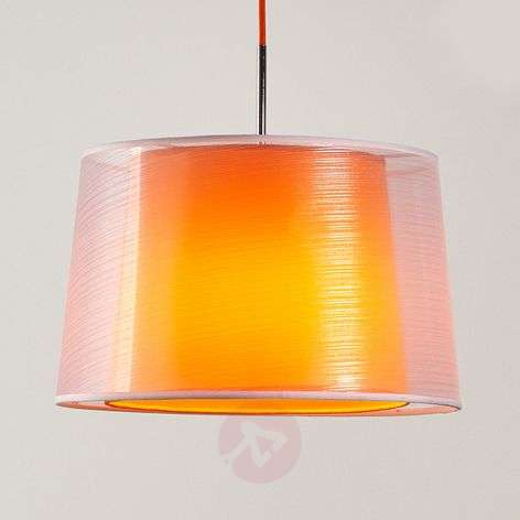 Attractive fabric pendant light Jasna, E27 LED