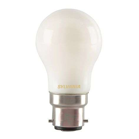 B22 4W 827 LED golf ball bulb, matt