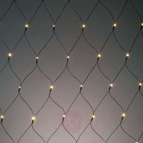 Battery-operated LED net light, 80 bulbs