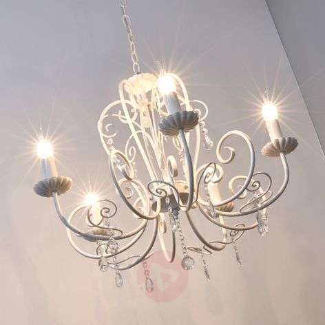 Shop beautiful chandeliers online lights beautiful chandelier sophina with crystals white mozeypictures Image collections