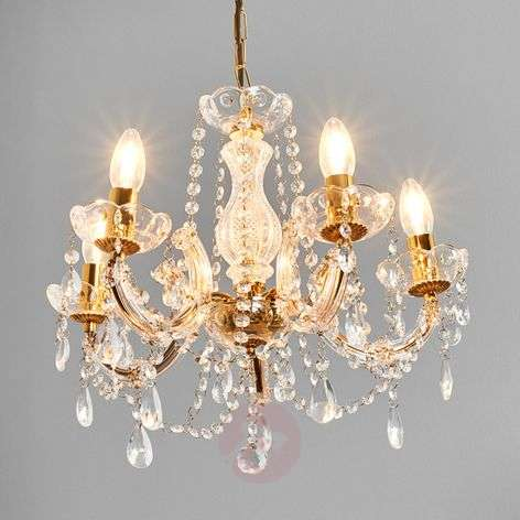 Beautiful Marie Therese chandelier, 5-fl.