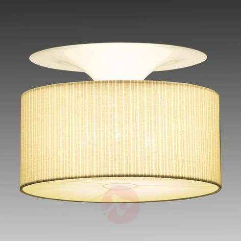 Beige soft ceiling light Onda box pleated