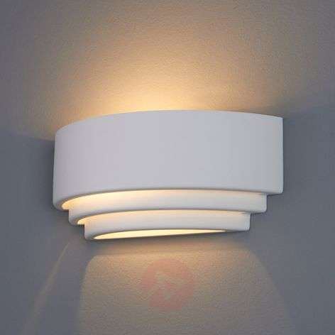 Biana Wall Light Semi-Circular Plaster