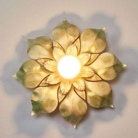 Blossom Florentine Wall Light Old Green